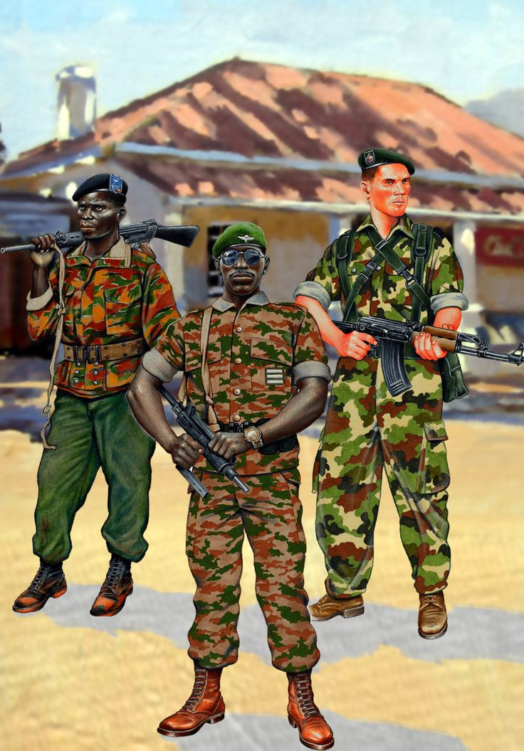 Troops of Rwanda with French 'Groupe Alfa' mercenary during the last days of Mobutu
