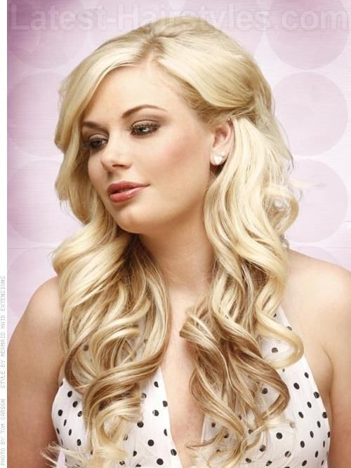 Super 1000 Images About Curled Hair On Pinterest Hairstyle Inspiration Daily Dogsangcom