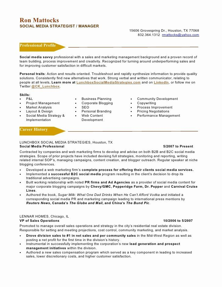 Digital Marketing Resume Sample Inspirational Sample Resume Media Marketing Resume Examples By Real Marketing Resume Resume Manager Resume