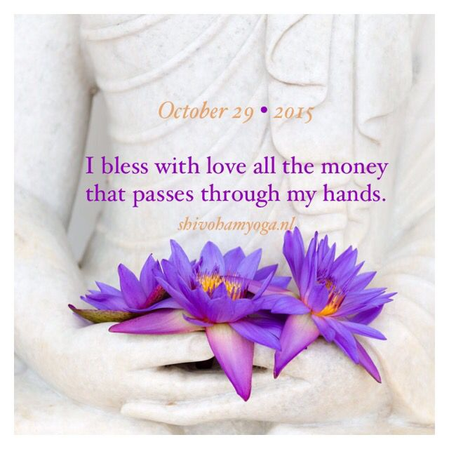 I bless with love all the money that passes through my hands ♡