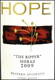 "Ken's wine review of 2009 Hope Estate Syrah & Shiraz (Other than French) ""The Ripper"""
