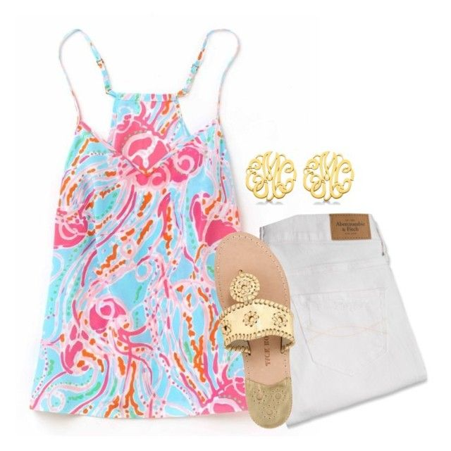 """{lilly}"" by preppy-southern-girl-1-2-3 ❤ liked on Polyvore featuring Abercrombie & Fitch, Allurez and Jack Rogers"