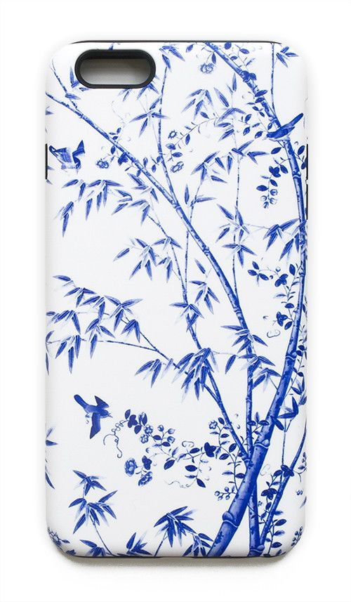 Chinoiserie Floral, Birds, and Bamboo in Blue and White iPhone Case – The Pink Pagoda