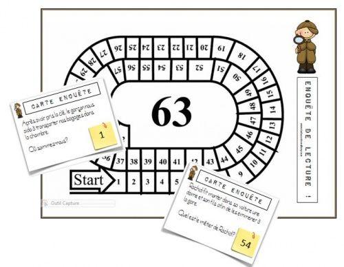 Un petitjeu de l'oie sur les inférences. Ces cartes peuvent être utilisées sur leplateau ou en rituel afin de faire travailler aux élèves l'implicite.    …
