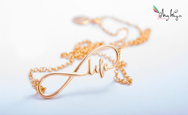 INFINITY SIGN WITH THE INSCRIPTION LIFE NECKLACE
