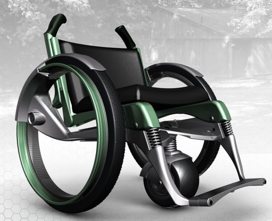 Outdoor Accessible wheelchair gains strength with carbon fiber body