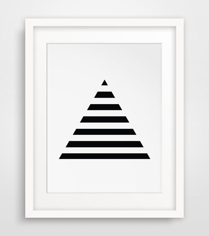Stripe Art, Minimalist Prints, Geometric Print Art, Triangles, Black Geometric, Minimalist Print Art, Black and White Stripes, Pyramid Art by MelindaWoodDesigns on Etsy https://www.etsy.com/listing/194168175/stripe-art-minimalist-prints-geometric