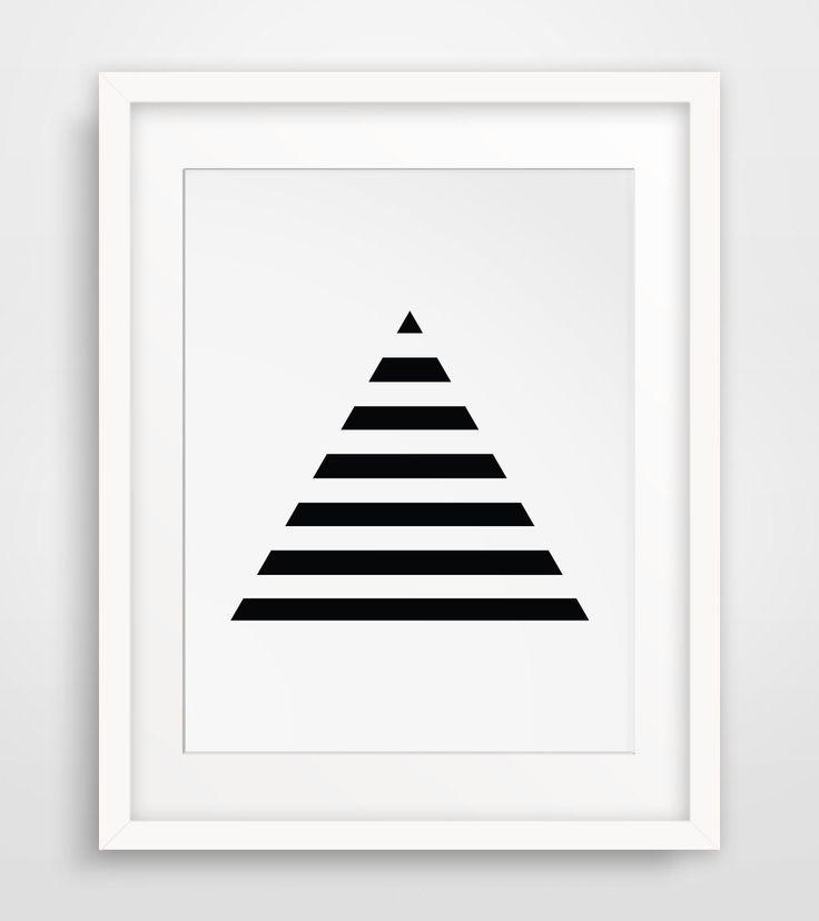 Stripe Art, Minimalist Prints, Geometric Print Art, Triangles, Black Geometric, Minimalist Print Art, Black and White Stripes, Pyramid Art by MelindaWoodDesigns on Etsy https://www.etsy.com/listing/194168175/stripe-art-minimalist-prints-geometric