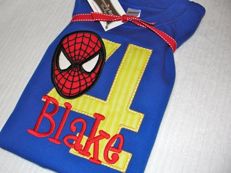 Spiderman Birthday Shirt. $32.00, via Etsy.