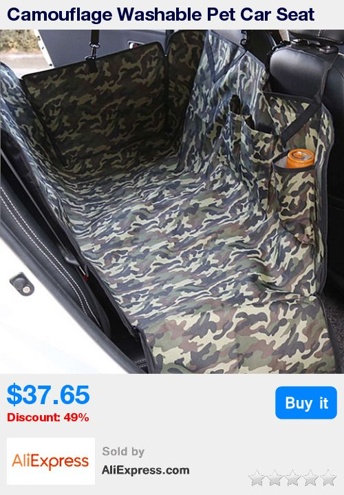 Camouflage Washable Pet Car Seat Cover Dog Cat Mat Rear Back Oxford Cloth Puppy Kitten Safety Travel Waterproof Cushion Pad * Pub Date: 19:03 May 26 2017