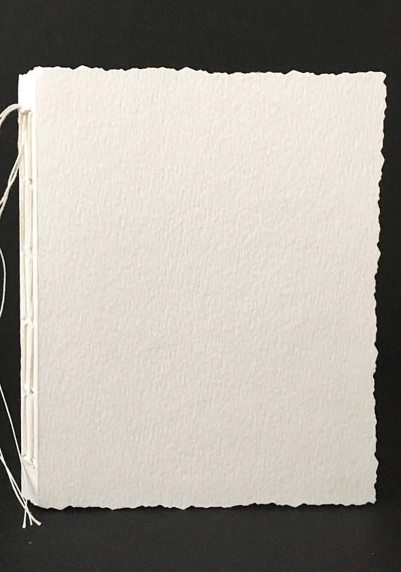 Hand Bound Blank Watercolor Paper Journal 5 75 X4 25