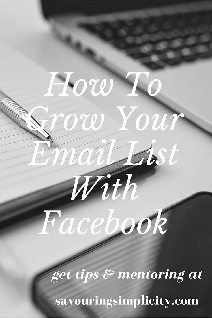 Learn Suzanne Chadwick's tip for building your list with Facebook! | social media tips | list building | email marketing