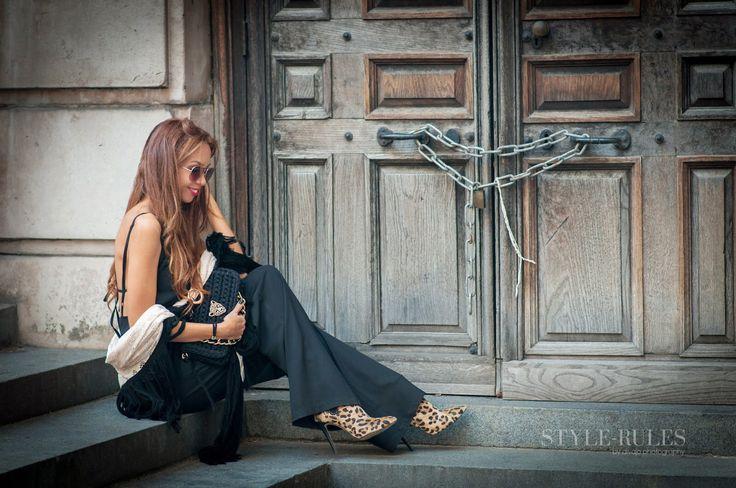 Wearing ckontova jumpsuit, Sante leopard boots, arrows&hearts kimono, One&only bag!