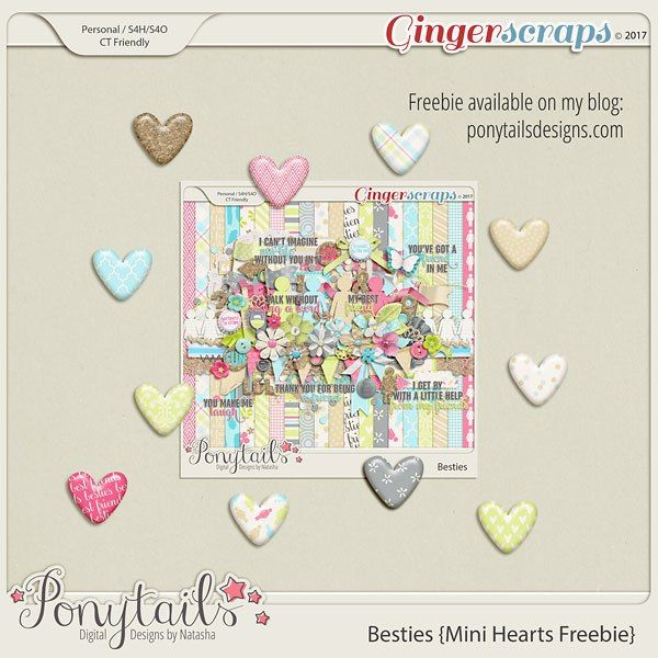 Saturday's Guest Freebies ~ Ponytails Digital Designs * Follow the Free Digital Scrapbook board for daily freebies: https://www.pinterest.com/sherylcsjohnson/free-digital-scrapbook/ * Visit GrannyEnchanted.Com for thousands of digital scrapbook freebies. *
