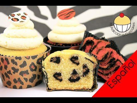 ▶ ¡Cupcakes de Safari POR DENTRO! ¡Cómo Hacer una Sorpresa de Impresiones - YouTube