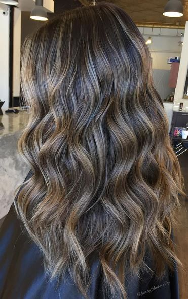 The finest of the finest brunette babylights. Hair color perfected by Amber Joy Rogan. Save