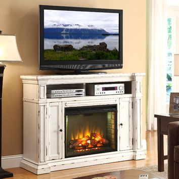 """Legends Furniture New Castle 58"""" TV Stand with Electric Fireplace"""