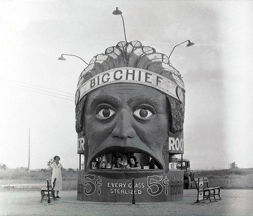 """""""Big Chief"""" root beer stand - Kansas City MO 1933"""