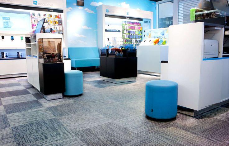 Telenor uses Bolon flooring in its Swedish stores