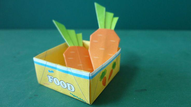 トーヨー「アニまるッ!おりがみ」のえさ箱と人参の折り方です。箱の角を折るのを忘れてました。説明書通りに折るとは8角形ぽくなります。 人参はけっこうリアルです。みなさんも作ってみてくださいね。 ◆アニまるッ!動物折り紙はこちら Animal Cube Origami https://www.youtube.com/...