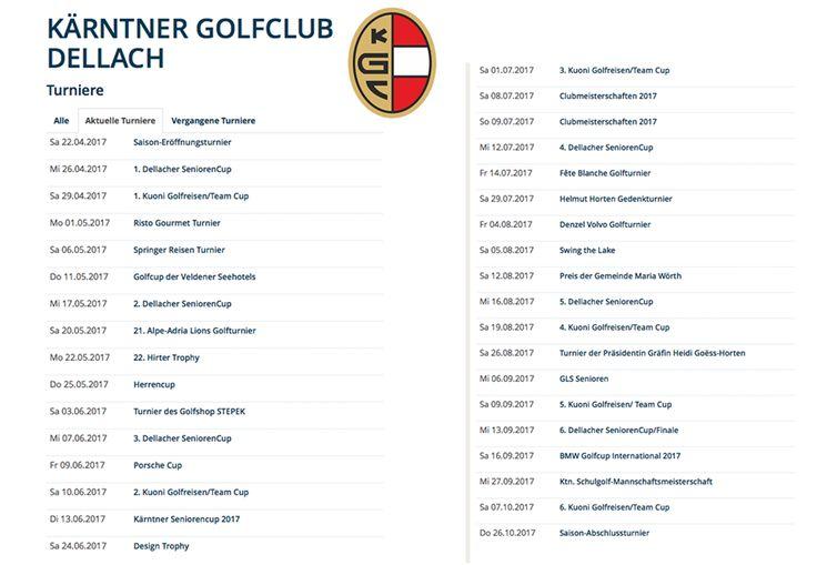 Der KGC Dellach Turnier-Kalender für 2017 steht! Turnier spielen ist für viele die Krönung des Golf-Sports.