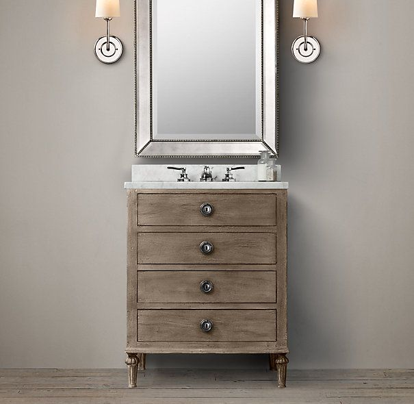 1000 ideas about black bathroom vanities on pinterest for Powder room vanity sink