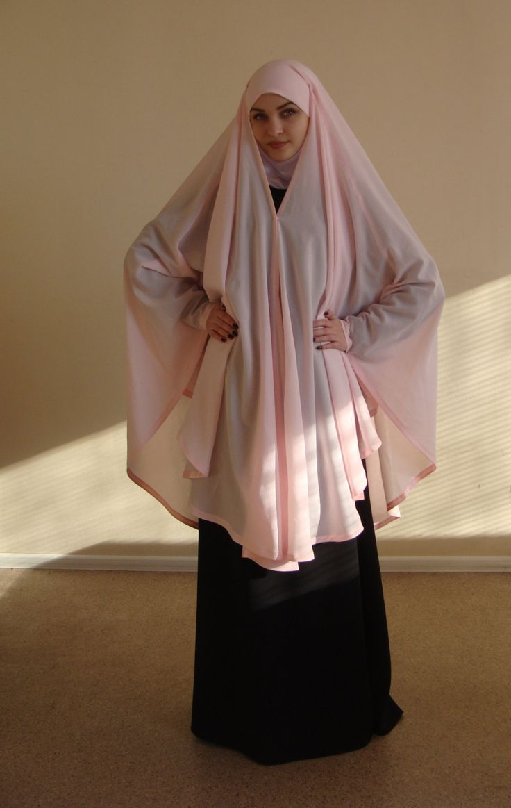 Transformer light pink Khimar Modern Burqa by ScarfTurbanHijab