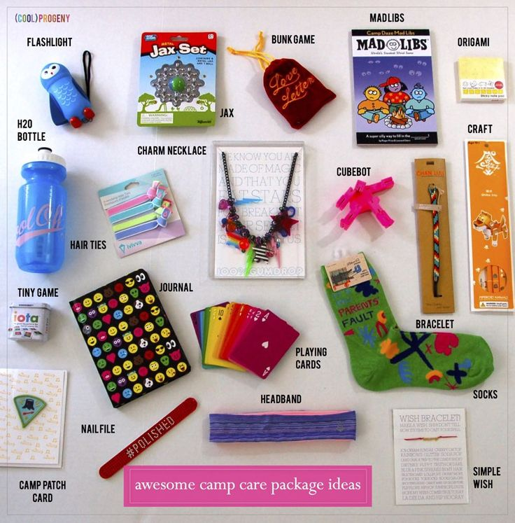 Awesome camp care package ideas guaranteed to make your camper think you're the (cool)est parent around. #coolprogeny #camp
