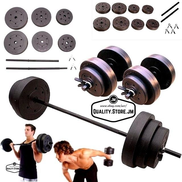 Fitness Equipment Weights Dumbells Adjustable Set Barbell Weight Home Gym 140 lb #GoldsGym