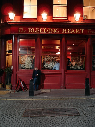 The Bleeding Heart pub in London. Love the names of these pubs in England, Ireland and Scotland. ASPEN CREEK TRAVEL - karen@aspencreektravel.com