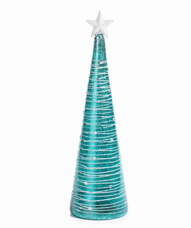 Turquoise and Silver LED Christmas Tree