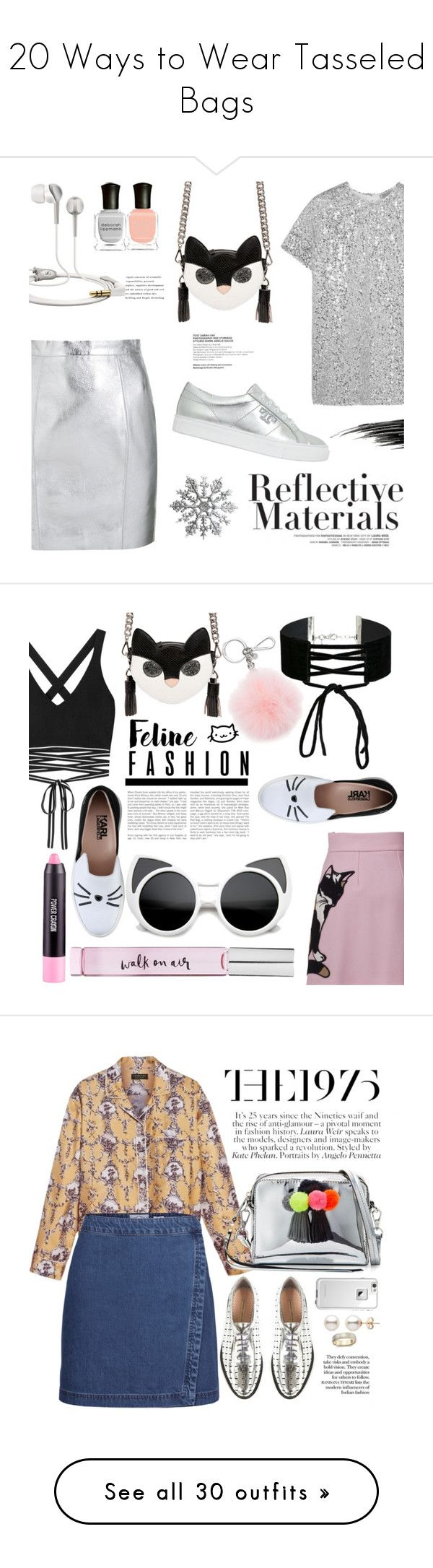 """20 Ways to Wear Tasseled Bags"" by polyvore-editorial ❤ liked on Polyvore featuring tassels, waystowear, Yves Saint Laurent, Nina Ricci, Tory Burch, MSGM, Urban Decay, Sennheiser, Deborah Lippmann and metallic"