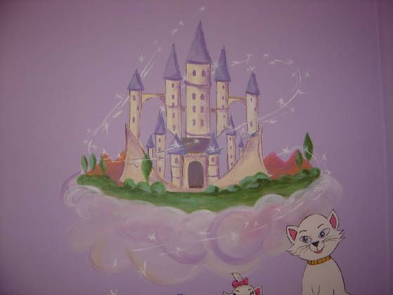 1000 ideas about princess mural on pinterest castle for Disney princess ballroom mural