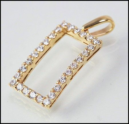 An impressive Italian design solid yellow gold pendant with high quality cubic zirconia . Suitable for every occasion.