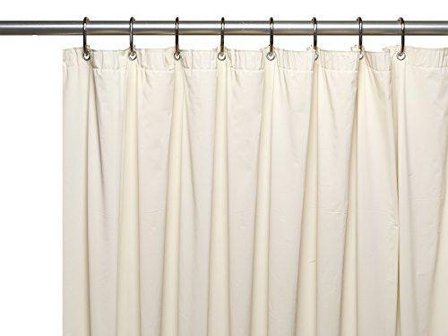 Royal Bath Jumbo Long Extra Heavy 8 Gauge Vinyl Shower Curtain Liner with Metal Grommets (72 inch x 96 inch ) - Bone
