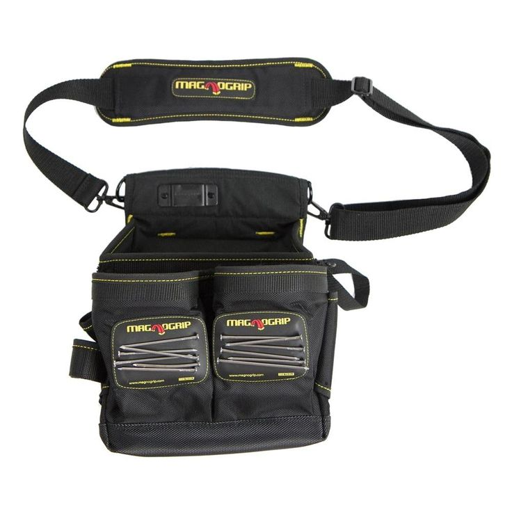 MagnoGrip 20-Pocket Magnetic Electrician's Tool Pouch with Shoulder Strap