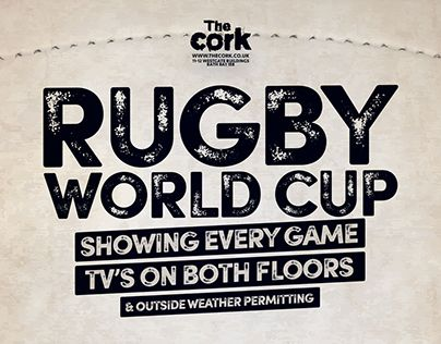 The Cork Rugby World Cup 2015 A3 Poster