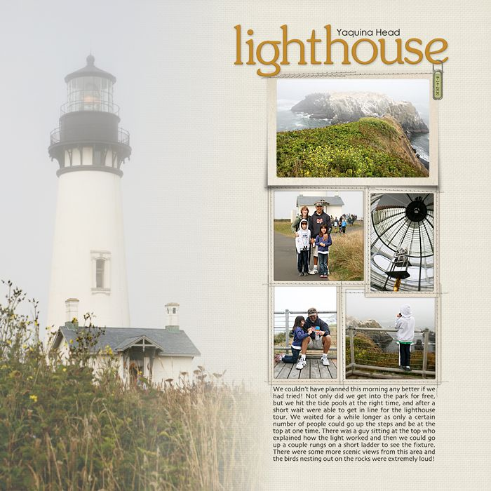 I love the way they did this layout.  Love that lighthouse, too - been there!