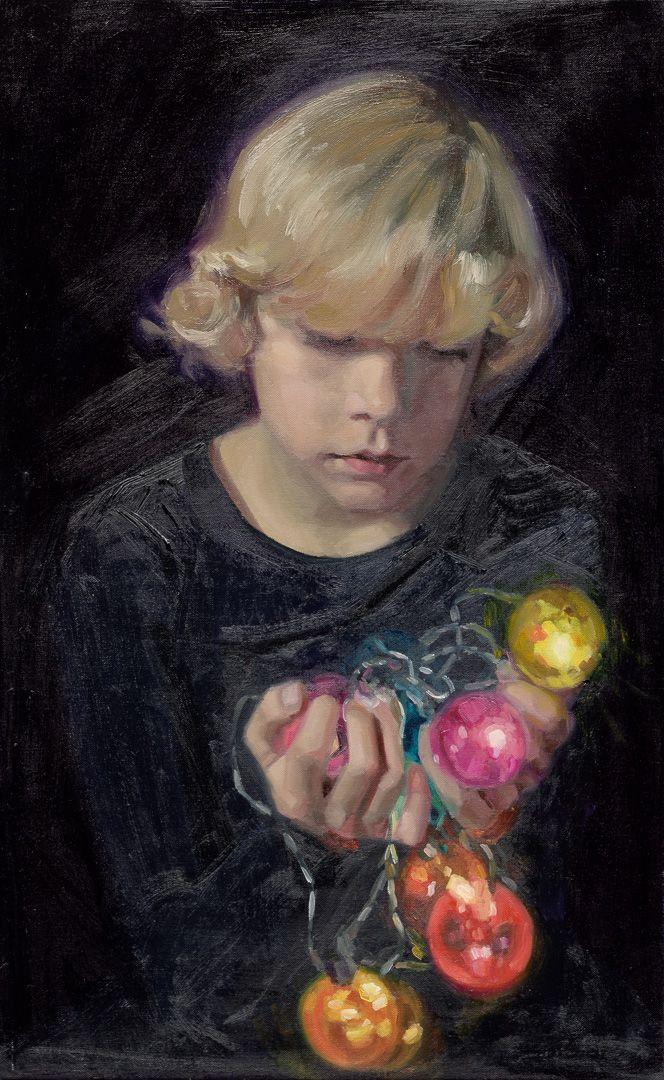 Portrait painting by Carolien van Olphen. oil on linen, 65 x 40 cm