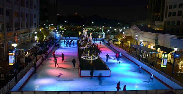 Go ice-skating in Centennial Olympic Park or Atlantic Station