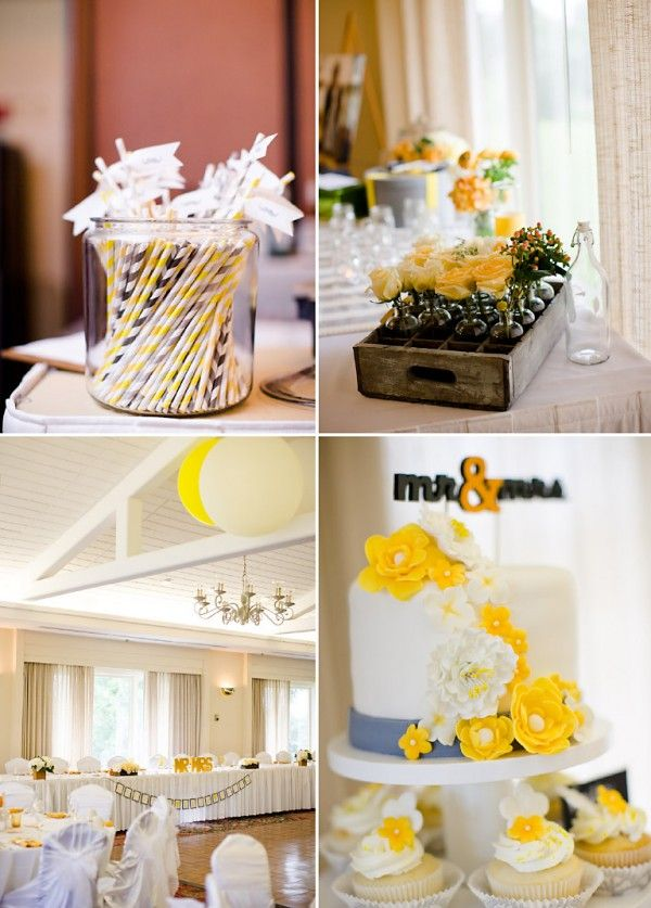 DIY wedding - yellow and gray - Colorado wedding - on COUTUREcolorado