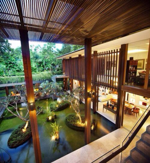 Dive Into This Zen Pool House With Rustic Flair: 70 Best Images About Interior Ponds On Pinterest