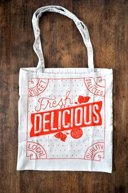 Fresh DELICIOUS tote bag