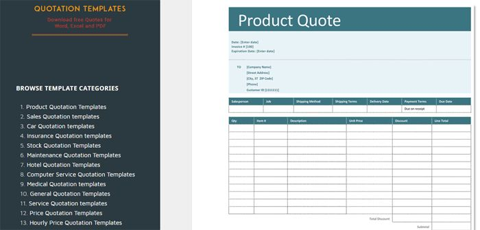 Quotation Templates – Improvise Your Business Proposal with Professional Quotes