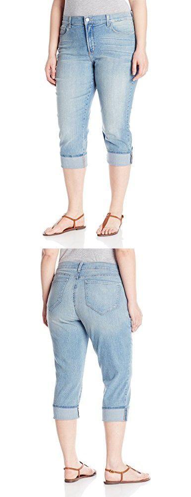 NYDJ Women's Plus-Size Dayla Wide Cuffed Capri Jeans - Manhattan Beach, 18W