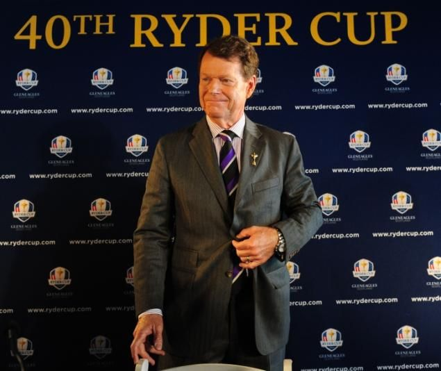 Tom Watson is named U.S. 2014 Ryder Cup Captain at a press conference at the Empire State Building, Thursday, December 13, 2012.