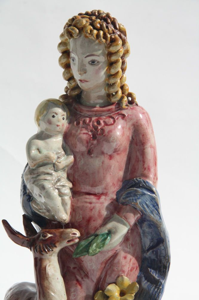 Rara Grande Statuina Ceramica Vietri Donna  Anni Trenta ICS 33 CM no Gambone | eBay