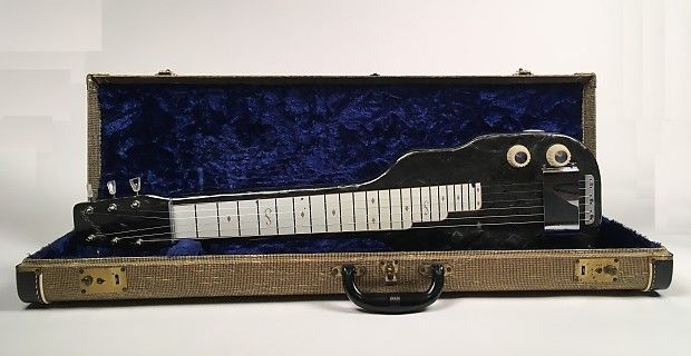 1950's Grey Dickerson Magnatone Lap Steel in Mother of Toilet Seat w/OHSC