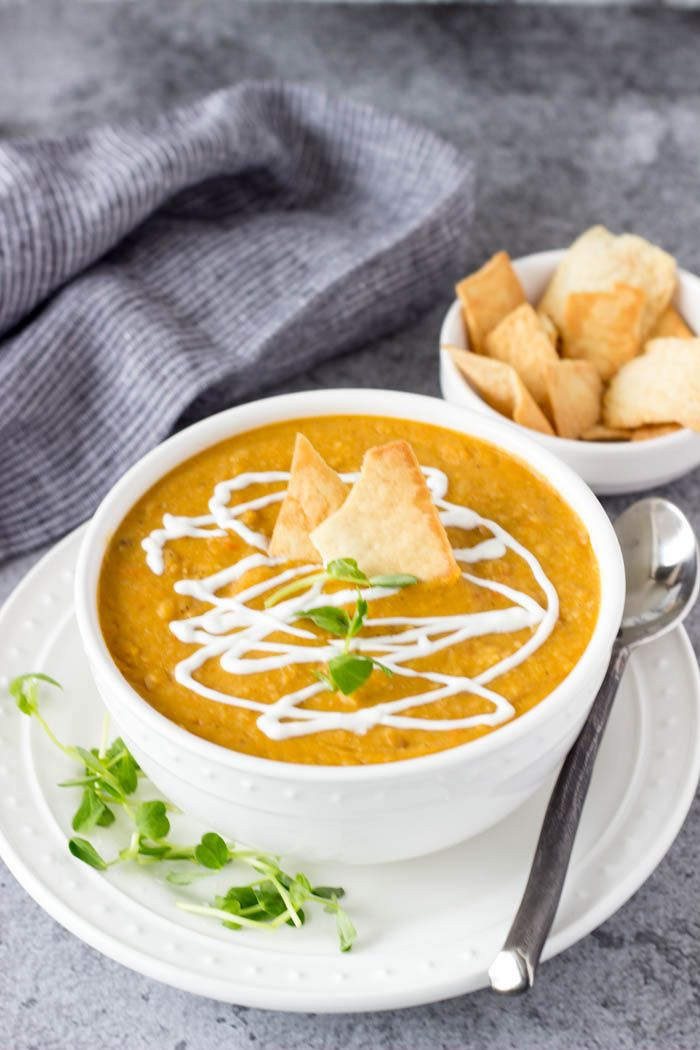 Curried Yellow Split Pea Soup -SimpleHealthyKitchen.com