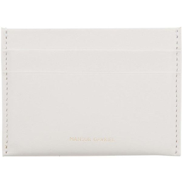 Mansur Gavriel White Credit Card Holder (10.260 RUB) ❤ liked on Polyvore featuring bags, wallets, white, white wallet, card holder wallet, mansur gavriel, mansur gavriel bag and white bag